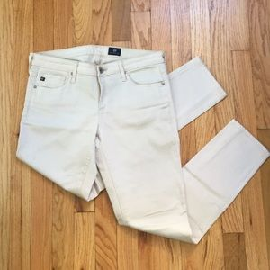 AG Stevie cream colored jeans